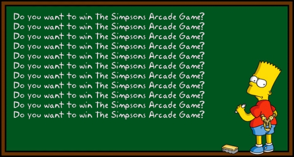 Giveaway The Simpsons Arcade